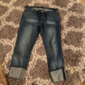 Gap straight leg cuffed jeans